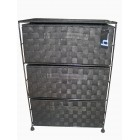 SN2000 3 DRAWERS NYLON CABINET BLACK