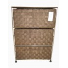 SN2000 3 DRAWERS NYLON CABINET COFFEE