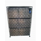SN2000 3 DRAWERS NYLON CABINET DARK COFFEE