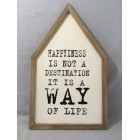 WOODEN RECT PLAQUE FRAME
