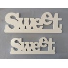 WOODEN LETTER DECO SWEET (LARGE)