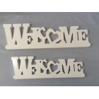 WOODEN LETTER DECO WELCOME (LARGE)